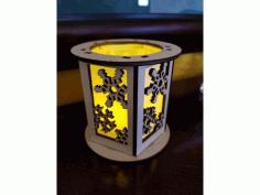 Cnc Laser Cut Candle Holder Lantern Snowflake Free DXF File