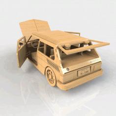 Diy 3d Puzle Laser Cut Wooden Car Free DXF File