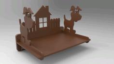 Dog Polka Shelf Design For Laser Cutting Free DXF File