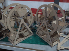 Ferris Wheel Laser Cut Cnc Design Free DXF File