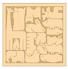 Laser Cut Creative Animal Jigsaw Puzzle Game For Kids Free CDR Vectors Art