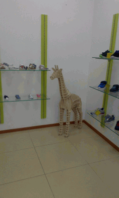 Laser Cut Giraffe 3d Plywood Puzzle 10mm Free CDR Vectors Art