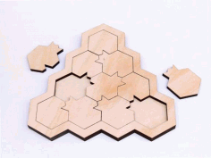 Laser Cut Pomegranate Puzzle Game Free CDR Vectors Art