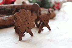 Laser Cut Wooden Animal Decor Template Free CDR Vectors Art