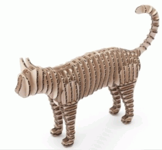 Cat BBQ 3d Puzzle Free DXF File