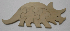 Rhinoceros Jigsaw Puzzle Laser Cutting Template Free DXF File