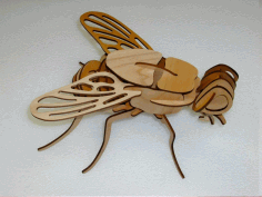 Laser Cut Wooden Fly 3d Puzzle Model Template Free CDR Vectors Art