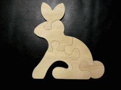 Rabbit Animal Puzzle Laser Cut Free CDR Vectors Art