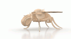 Fly Insect 3d Puzzle 3mm Free DXF File