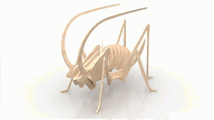 Grasshopper 1.5mm Insect 3d Wood Puzzle Free DXF File