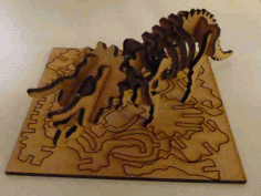 Lasercut Triceratops Skeleton Puzzle Free DXF File