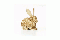 Laser Cut Rabbit 3d Puzzle Free DXF File