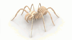 Spider 6mm Wood Insect 3d Puzzle Free DXF File