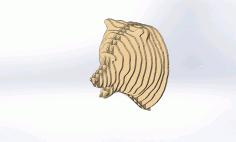 Laser Cut Bear 3d Puzzle Plans Free CDR Vectors Art