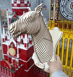 Horse Head 3d Puzzle For Laser Cutting Free CDR Vectors Art