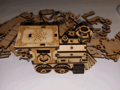 Christmas Train Cool Laser Cutter Project Free CDR Vectors Art