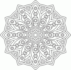 Circle Mandala Ornament Free CDR Vectors Art