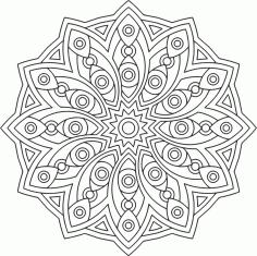 Circle Mandala Ornament Free CDR Vectors Art
