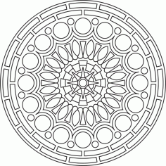 Circular Mandala Ornament Free CDR Vectors Art