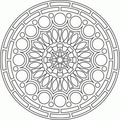 Circular Mandala Ornament Free CDR Vectors Art