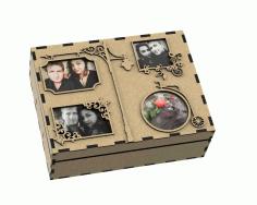 Laser Cut Foto Album Box Free DXF File