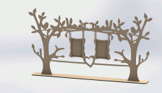 Laser Cut Photo Frame Tree Free DXF File