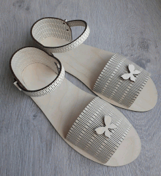 Laser Cut Sandals Free CDR Vectors Art