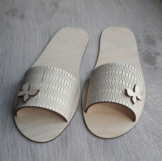 Laser Cut Slippers Free CDR Vectors Art