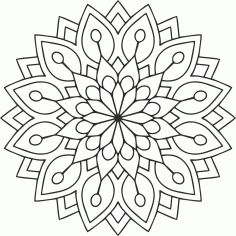 Mandala Circular Ornament Free CDR Vectors Art