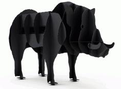 Wild Boar Bbq Grill Plasma Cut Free CDR Vectors Art