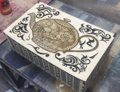 Beautiful Wooden Box Laser Cut Model Free CDR Vectors Art
