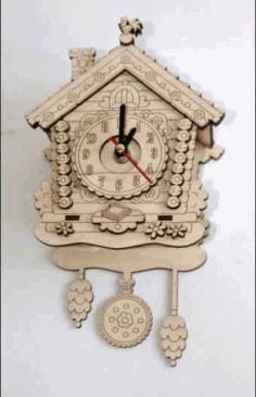 Laser Cut Wall Clock Template Free CDR Vectors Art