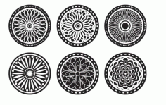 Llaser Cut Mandala Ornaments Cool Cnc Project Free CDR Vectors Art