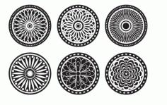 Llaser Cut Mandala Ornaments Cool Cnc Project Free CDR Vectors Art