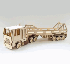 Wooden Truck And Trailer Laser Cutting Project Free CDR Vectors Art