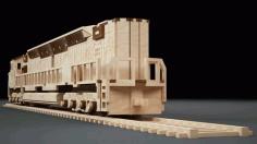 Laser Cut Locomotive Model Free DXF File