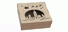 Amazing Wood Box Laser Cut File For Christmas Gift Free CDR Vectors Art