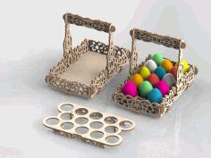 Basket Laser Cut  Model Free CDR Vectors Art