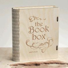 Book Box Wooden Free CDR Vectors Art