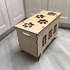 Cat House Template Laser Cut Free CDR Vectors Art