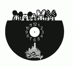 Chasiki Vinyl Record Wall Clock Laser Cutting Free CDR Vectors Art