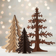 Christmas Trees Free CDR Vectors Art