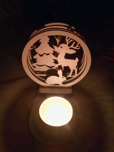 Laser Cut Animal Nightlight Lamp Free CDR Vectors Art