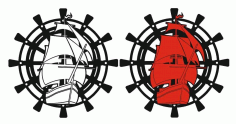 Laser Cut Boat Design Clock Puzzle Free CDR Vectors Art