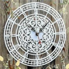 Laser Cut Classic Clock Puzzle Free CDR Vectors Art