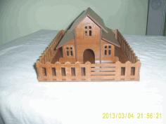 Laser Cut Design Form House Free DXF File