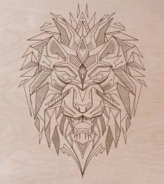 Laser Cut Engraving Lion Template Free CDR Vectors Art