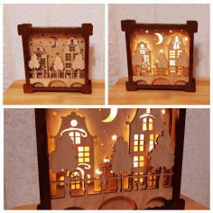 Laser Cut Night Lamp Free CDR Vectors Art