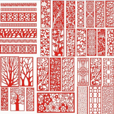 Laser Cut Pattern Screen 113 Free CDR Vectors Art