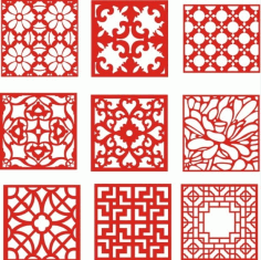 Laser Cut Pattern Screen 111 Free DXF File